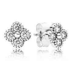 Pandora Oriental Blossom Cubic Zirconia Earrings 290647CZ