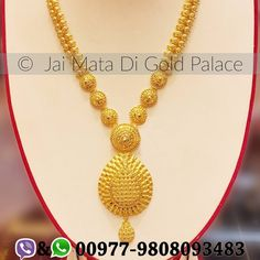 Name: Ranihaar Code: 695 Weight(gram): 47.20 Carat: 24 #gold #jewelry #jaimatadigoldpalace #ranihaar #top #nepal #nepali #happiness #memorable #event #magnificent #shiny #sparkle #zircon #collection #set