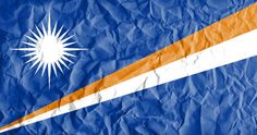 flag of marshall islands with vintage old paper