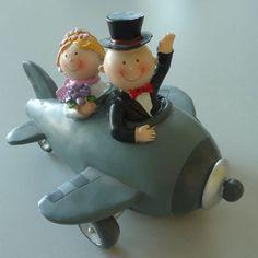 Mariage Décoration de tarte Figurine de gâteau Tirelire Mariée Et Le Marié en