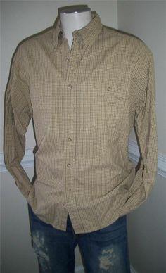 mens INTERNATIONAL WATERS Shirt L LG Dress/Casual  LS 100% Cotton #internationalwaters #ButtonFront