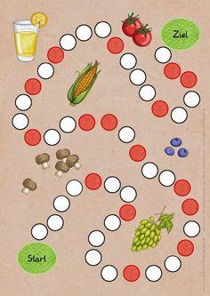 """Reif für die Ferien: Spiel zum Thema """"Gesunde Ernährung"""""""