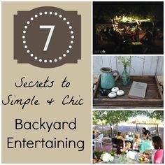 Fun times outside, smoke rising from the grill – the backyard party is here! When inviting friends and family for festivities at home, you can glam up your backyard for a chic, elegant atmosphere. As the kids catch fireflies your guests can relax underneath gorgeous globe string lights. During warmer days, consider cooling off your guests with an outdoor misting fan. Backyard entertaining is fun and memorable, so check out eBay's 7 secrets for the ideal backyard party.