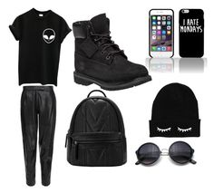 """""""Black All-Day"""" by obey-the-myla on Polyvore featuring MuuBaa, Timberland, women's clothing, women's fashion, women, female, woman, misses and juniors"""