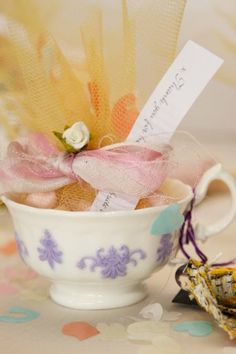 Cute tea-cup wedding favours from Breadcrumb Boutique, £5