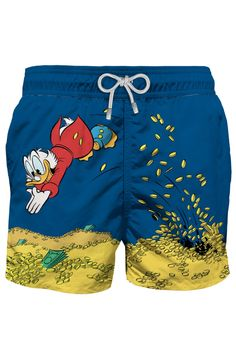 Shop Scrooge Mcduck Photographic Print Swim Shorts - Disney® Special Edition and save up to EXPRESS international shipping! Dagobert Duck, Disney Specials, Scrooge Mcduck, Trends, Going Home, Men's Collection, Swim Shorts, Designer, Saints