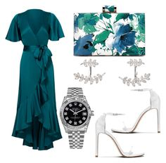 """""""friend s wedding"""" by memowitta on Polyvore featuring Temperley London, SonyaRenée and Rolex"""