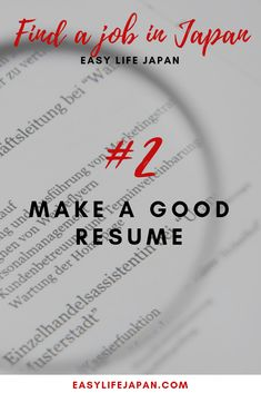 Are you willing to work in Japan but you don't know where to start? Today, I will walk you through the steps to find a job in Japan. Resume Tips, Resume Examples, Life Tips, Life Hacks, Work In Japan, Effective Resume, Japanese Symbol, Japan Japan, Japanese Language