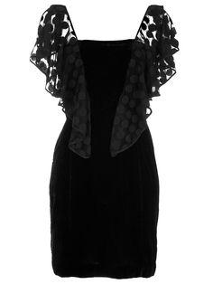 Velvet Polka Dot Sleeve Dress
