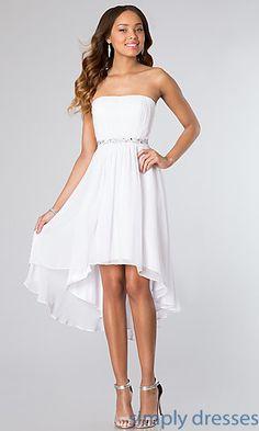Dresses, Formal, Prom Dresses, Evening Wear: High Low Strapless Dress 8626
