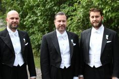 (L-R) The Magnuson brothers: Oscar, the Groom Gustaf and Victor.  They are Princess Christina, Mrs. Magnuson three boys.