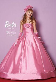 ~Barbie Bridal~ Barbie Bridal, Barbie Wedding Dress, Barbie Gowns, Pink Wedding Dresses, Barbie Dress, Bridal Dresses, Ball Dresses, Satin Dresses, Ball Gowns