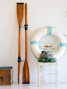 oars and life saver decor