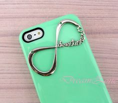 One Direction Iphone 5 Case, Iphone 5 case, Directioner Infinity Hard Case, Light Green iphone 5 case. $7.99, via Etsy.