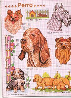"Photo from album ""Собаки"" on Yandex. Easy Cross Stitch Patterns, Simple Cross Stitch, Cross Stitch Charts, Cross Stitch Designs, Cross Stitching, Cross Stitch Embroidery, Dog Chart, Peler Beads, Crochet Cross"