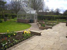 one of our gardens in knaresborough yorkstone stone walling garden design