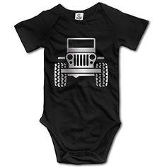 Platinum Style Black Baby Sleeveless Jeep Wrangler Onesie