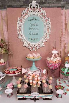 shabby chic cupcakes decorating ideas | Shabby Chic Girl Spring Floral Bridal Shower Party Planning Ideas