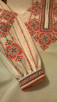 Ukraine, from Iryna Russian Embroidery, Folk Embroidery, Learn Embroidery, Embroidery Fashion, Cross Stitch Embroidery, Embroidery Patterns, Cross Stitch Patterns, Zardozi Embroidery, Palestinian Embroidery