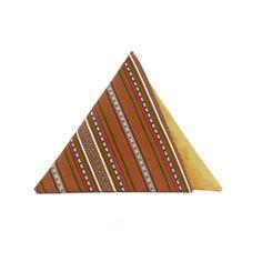 Brown Triangular Clutch Bag by Georgina
