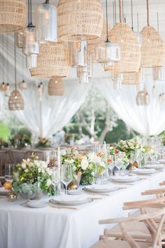 weddings with lanterns - photo by Melissa Gidney Photo http://ruffledblog.com/contemporary-montecito-wedding-at-home