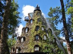 The Magic Mountain Hotel is located in Huilo Huilo, a private Natural Reserve in the Los Rios region of Chile.