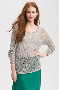 Open stitch sweater.  Great for summer.  A quick knit?  Perhaps.  If I can just find a pattern!