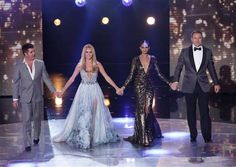 Amanda Holden, Alesha Dixon and Simon Cowell draw complaints after sporting . Britain S Got Talent Final Britain's Got Talent, Talent Show, Uk Tv Shows, Alesha Dixon, Lord Of The Dance, Amanda Holden, Simon Cowell, Blue Gown, Cape Dress