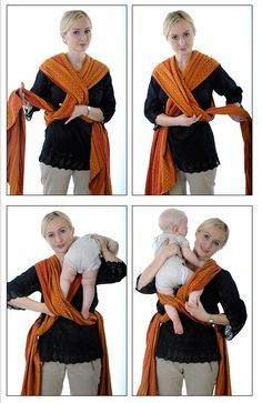 How to carry a baby with a wrap