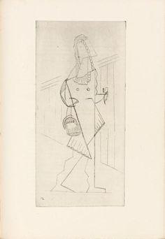 Raymond RADIGUET  Les Pélican. Paris, Galerie Simon (D. H. Kahnweiler), 1921. ÉDITION ORIGINALE de cette pièce que l'auteur écrivit à l'âge de 17 ans et qui fut représentée le 24 mai 1921 au théâtre Michel à Paris. Elle est illustrée de 7 très belles eaux-fortes originales de Henri Laurens dont une pour la couverture et 2 planches hors texte. C'est le premier livre illustré par Henri Laurens.
