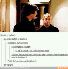 I don't ship Johnlock but this is HILARIOUS!!!