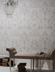 Chatterton wallpaper from Cole and Son Shell Ivory
