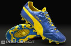 Puma Football Boots - Puma King Finale SL i FG - Firm Ground - Soccer Cleats - Blue Metallic-Dandelion-White