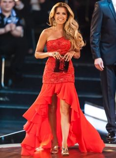COLOGNE, GERMANY - MAY 23: Host Sylvie van der Vaart walks during 'Let's Dance' Finals at Coloneum on May 23, 2012 in Cologne, Germany. (Photo by Peter Wafzig/Getty Images)