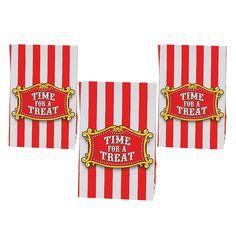 Carnival Big Top Mini Treat Bags with Tape - OrientalTrading.com $2/dozen