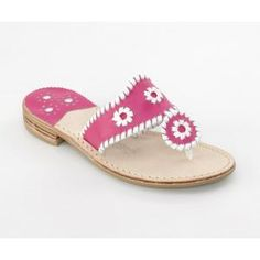 JACK ROGERS, Navajo in fuchsia and white