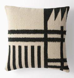 """Woven Blocks Wool Kilim Pillow  20"""" x 20"""" E1912"""