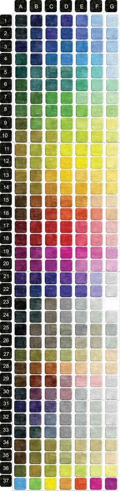 Colores Color Chart~~ We all need this to compare each color to the other and opposite if needed Painting Tips, Painting & Drawing, Carpet Diy, Carpet Types, Dark Carpet, Green Carpet, Modern Carpet, Color Studies, Colour Board