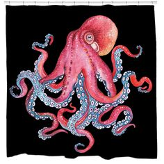 Dive deep to receive a greetings from below! This octopus design is illustrated by Belarus based artist Nikiparonak. Want to make your own custom shower curtain? Click Here: Custom Shower Curtain Disclaimer: If you order multiple items, they may ship from separate locations. Our shower curtains print & ship within 5 - 7 days of your order. All Sharp Shirter images are copyrighted. Any illegal reproductions are strictly prohibited.