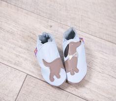 Starchild Blue Dog Pumps - adorable soft leather shoes. £18.00