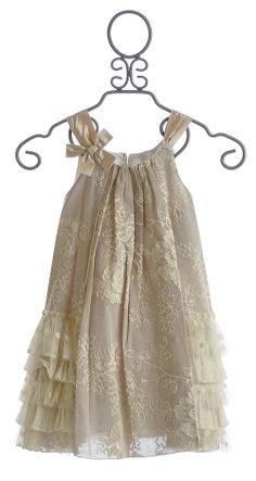 Isobella and Chloe Lace Dress in Creme Brulee $58.00