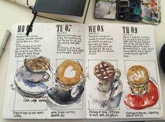 Last week in coffee sketches