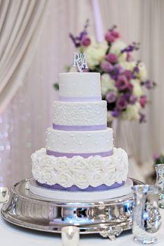ballroom wedding reception cake idea; Kristen Weaver Photography