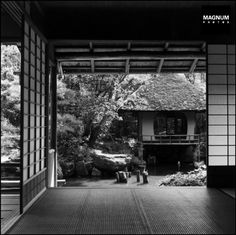 Tea house, Town of Kyoto, Japan 1951 by Werner Bischof