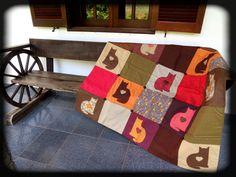 manta de gato  patchwork