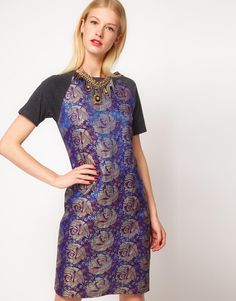 Asos t-shirt dress with jacquard print | reg $70.36, sale $42.22 + 10% off with promocode PERFECT10 = $38 | size 2,4