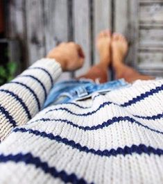 striped knitting jersey. white and blue navy