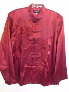Beijiasi Brocade Long Sleeve Oriental Asian Frog Button Up Shirt Top Sz. XXXL #Beijiasi #ButtonDownShirt #EveningOccasion