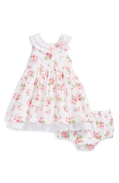 Little+Me+Floral+Print+Dress+&+Bloomers+(Baby+Girls)+available+at+#Nordstrom