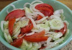 GRANDMA'S CUCUMBER SALAD :http://recipescool.com/grandmas-cucumber-salad/